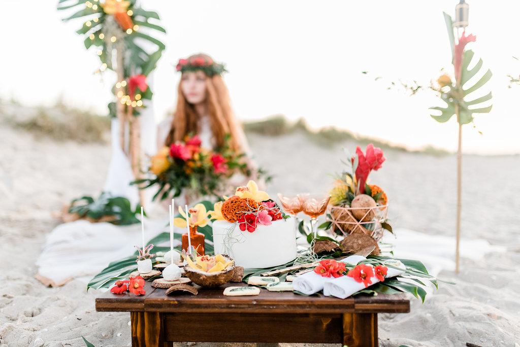 Tropical Hochzeit: Hawaii Torte